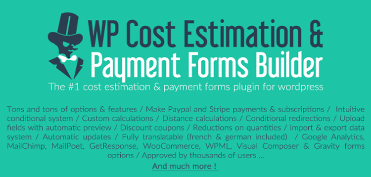 Item cover for download WP Cost Estimation & Payment Forms Builder