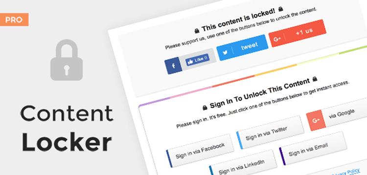 Item cover for download MyThemeShop Content Locker Pro Plugin