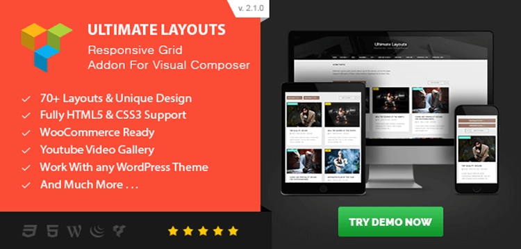 Item cover for download Ultimate Layouts - Responsive Grid  Youtube Video Gallery - Addon For Visual Composer
