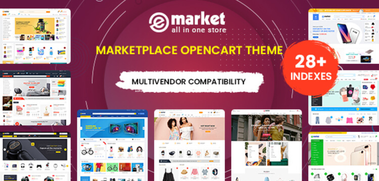 Item cover for download EMarket - Multi-purpose MarketPlace OpenCart 3 Theme