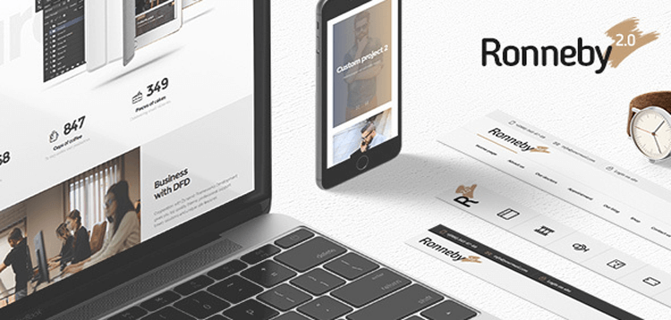 Item cover for download Ronneby - High-Performance WordPress Theme