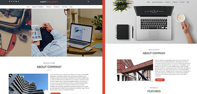 Item cover for download CyberChimps Happy Thoughts WordPress Theme