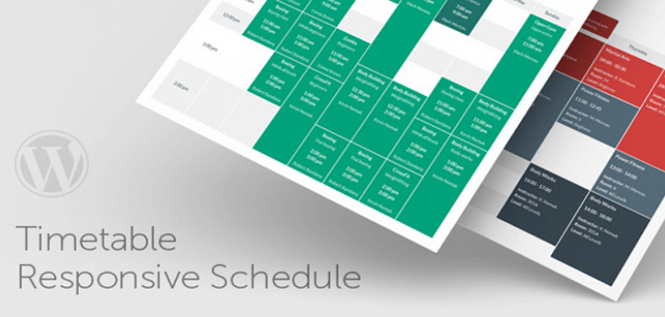 Item cover for download Timetable Responsive Schedule For WordPress