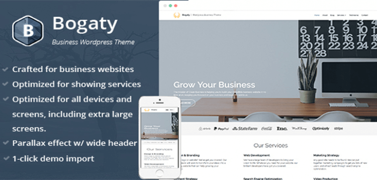 Item cover for download Bogaty - Clean  Modern WordPress Business Theme