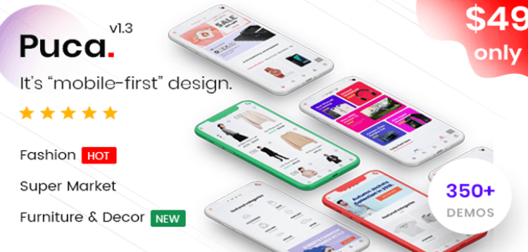 Item cover for download Puca - Optimized Mobile WooCommerce Theme