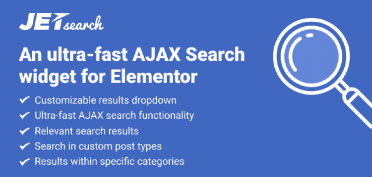 Item cover for download JetSearch For Elementor