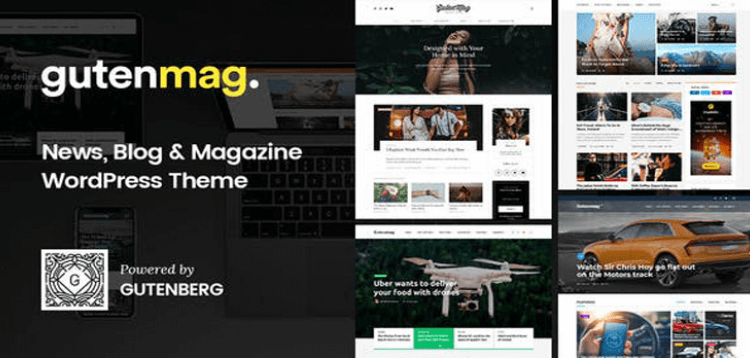 Item cover for download GutenMag - Gutenberg WordPress Theme for Magazine and Blog