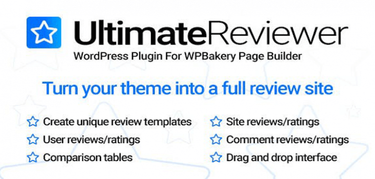 Item cover for download Ultimate Reviewer WordPress Plugin For WPBakery Page Builder
