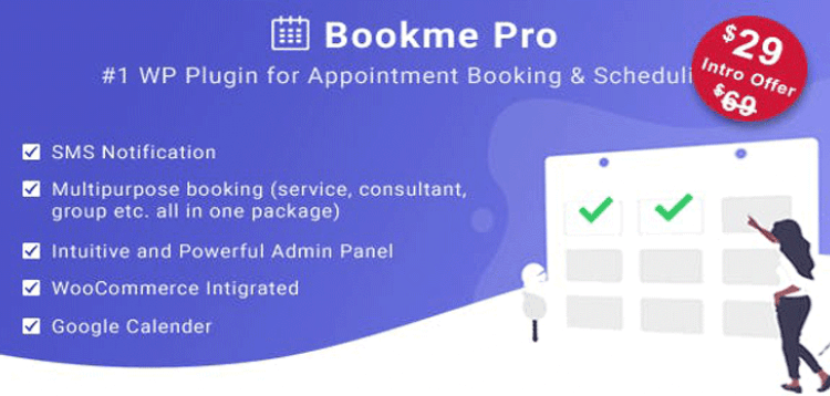Item cover for download Bookme Pro - WordPress Appointment Booking and Scheduling Software