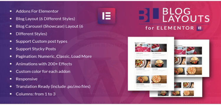 Item cover for download Blog Layouts for Elementor WordPress Plugin