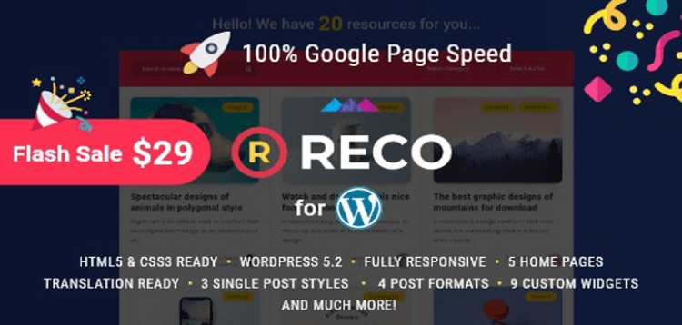 Item cover for download Reco - Minimal Theme for Freebies