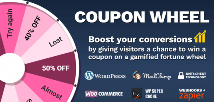 Item cover for download Coupon Wheel For WooCommerce and WordPress