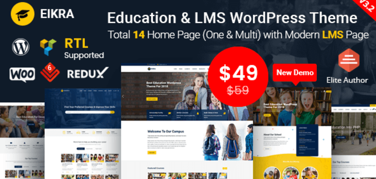 Item cover for download EIKRA EDUCATION - EDUCATION WORDPRESS THEME