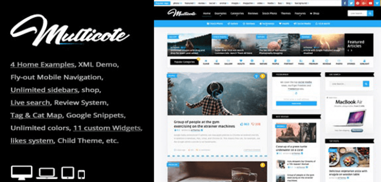 Item cover for download Multicote - Magazine and WooCommerce WordPress Theme