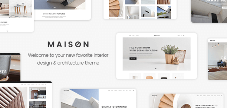 Item cover for download MAISON - A MODERN THEME FOR ARCHITECTS AND INTERIOR DESIGNERS