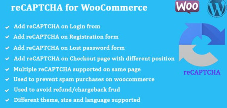 Item cover for download RECAPTCHA FOR WOOCOMMERCE