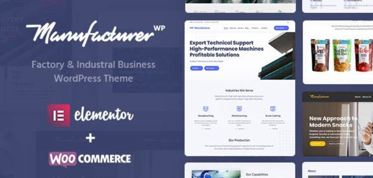 Item cover for download MANUFACTURER - FACTORY AND INDUSTRIAL WORDPRESS THEME
