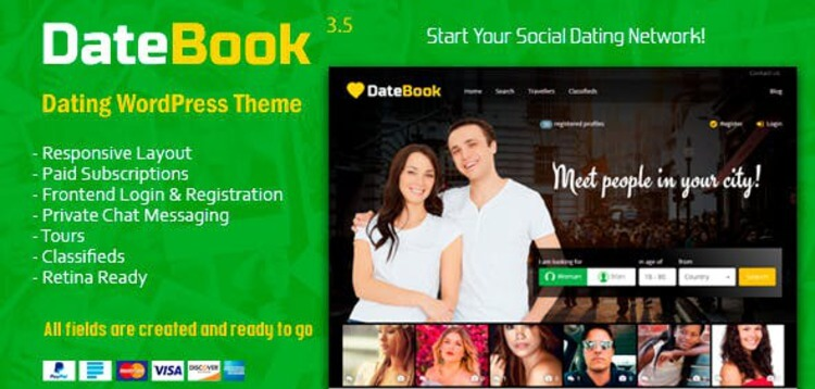 Item cover for download DATEBOOK - DATING WORDPRESS THEME