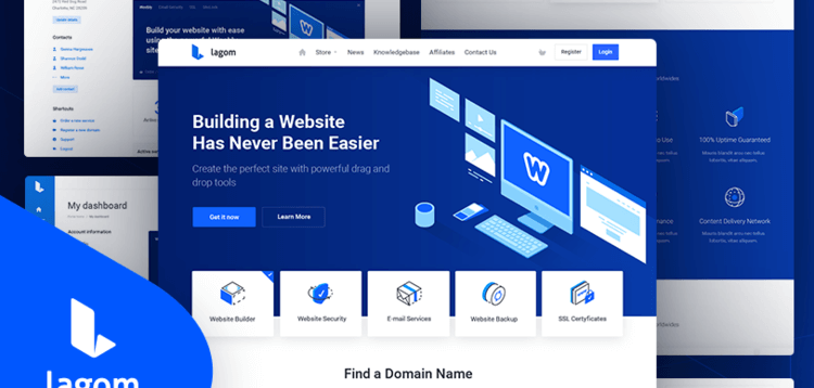 Item cover for download Lagom WHMCS theme