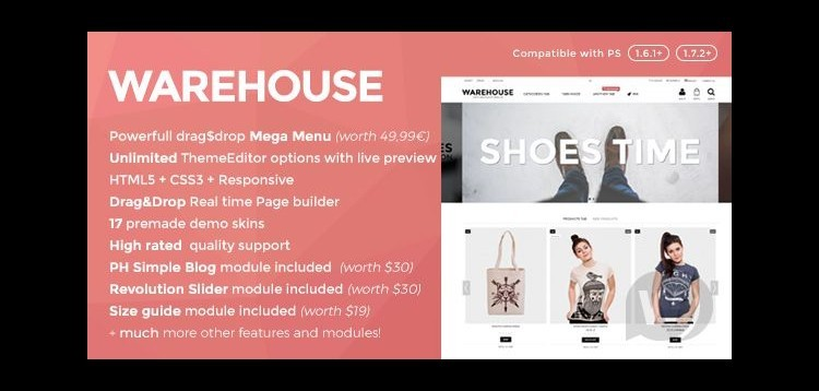 Item cover for download Warehouse - responsive template for PrestaShop 1.6 & 1.7