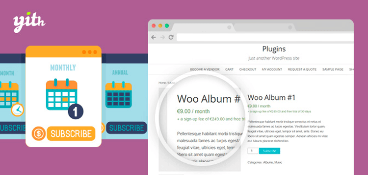 Item cover for download YITH WooCommerce Subscription Premium