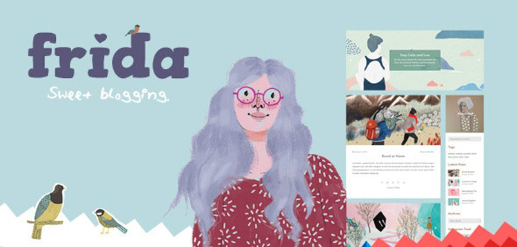 Item cover for download Frida - A Sweet & Classic Blog Theme