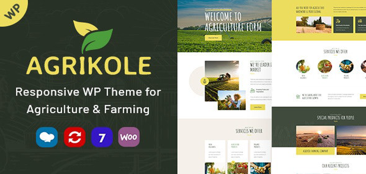 Item cover for download Agrikole | Responsive WordPress Theme for Agriculture & Farming