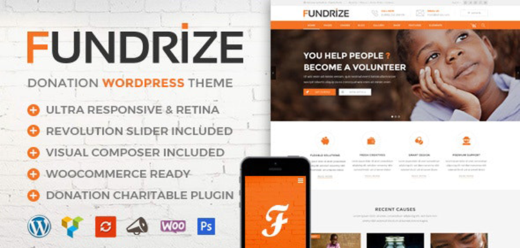Item cover for download Fundrize   Responsive Donation & Charity WordPress Theme