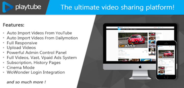 Item cover for download PlayTube - The Ultimate PHP Video CMS & Video Sharing Platform
