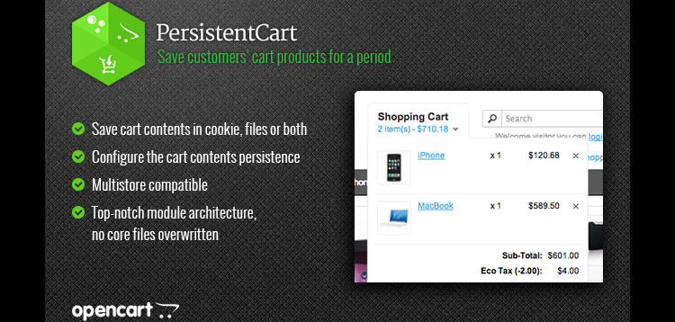 Item cover for download PersistentCart Keep customers shopping carts forever