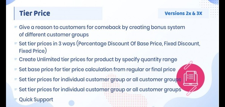 Item cover for download Tier Price - Product Discount based On Quantity Rules for Opencart