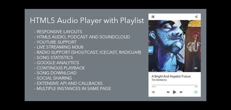 Item cover for download HTML5 Audio Player with Playlist